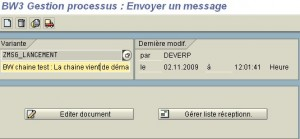 RSPC : Gestion de message