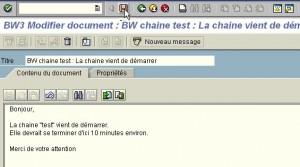 RSPC : Saisie du corps du mail à envoyer